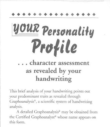 How To Write A Personality Profile